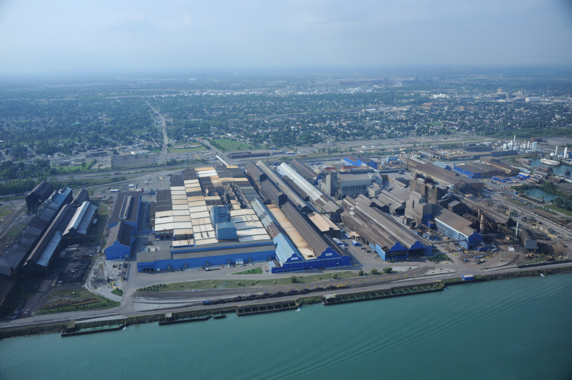 Located On The Detroit River Two Miles From The Famous Rouge Plant Is The Great Lakes Works Of U S Steel This Plant Serves The Automobile Industry