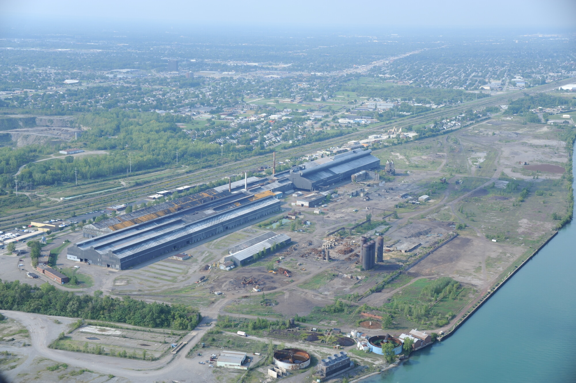 A Few Miles Down The Detroit River From Detroit South Of The Active U S Steel Great Lake Works Plant Is An Abandoned Integrated Steel Mill